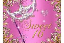 Sweet 16 / Sweet sixteen girl's birthday party designs sold on Zazzle.
