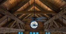 Timber Frame Homes / Timberframe homes are inherently gorgeous.  By using reclaimed wood beams, this adds a whole new meaning to craftmanship.