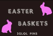 Easter Baskets - Do something different / Some different ideas for Easter baskets. Get out of the same ole same ole grass n candy.