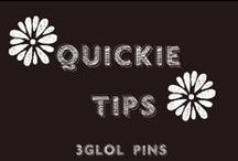 Quickie tips you should know / Quick tips from health & beauty to cleaning and organization!