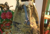Pixies and fairies bags and purses / Handmade bags from vintage upholstery fabrics and new , old and vintage laces, buttons and decorations. Knitted bags. https://www.etsy.com/shop/PixiesFairies