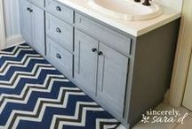 Painted Cabinetry / Deliciously painted cabinetry