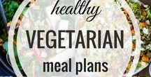 HEALTHY VEGETARIAN MEAL PLANS / Lots of Healthy Vegetarian Meal Plans to help make your weekly dinner planning much easier!  Color Coded shopping lists included!  Tons of vegan and gluten free options too!
