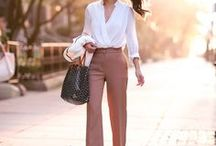 OUTFITS || Business / Outfit Ideas for the Office (Business Looks) // Outfit Ideen fürs Büro Business, Style, Outfit, Inspiration, Casual Chic, Blazer, Heels, Blouse, Trenchcoat, Slacks, Pencil Skirt