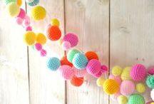 amigurumi balls, eggs & clocks