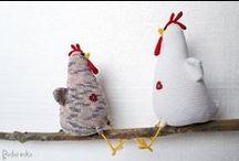 amigurumi chicken