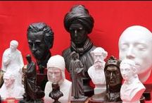 busts of writers and poets / bust and statues of writers and poets
