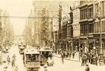 Melbourne streets before World War I / Since 1885 Melbourne has been one of the world's great tramway cities. Trams and tramway infrastructure are often an integral component in many of Melbourne's historic streetscapes.