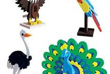 Worldwide: 3D model Making Toys / Make fun and easy 3D model of Animals, Birds,Houses and Monuments from Around the World