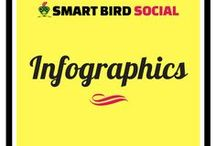 Infographics by Smart Bird Social / Infographics get noticed! Hire me to design one to accompany your blog post.