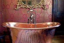 Baños - azulejos - bañeras / by Tania Noguera