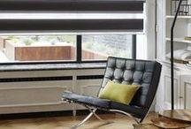 Black & White Design & Contemporary / Un store graphique et ludique, pour jouer sur l'intensité de la lumière.
