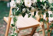 Chair Décor / Pretty chairs for the Bride and Groom.