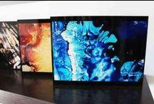 Tanitart sèrie Vital Spaces - versión mini BLOK / Versión mini BLOK, en 18x18 y 18x24, de las obras más grandes de 100x70, 80x80, 80x60, 110x20 y 60x60.