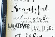 Calligraphy ✍