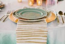 New Year Wedding Color Inspirations  / The Golden New Year! Get Inspired with these Color Palettes for your New year Wedding (Golds, Mint, Black & White) www.CaboBeachWeddings.com