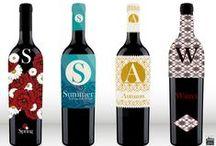 Diseño de etiquetas / Diseño de familia de etiquetas de botellas de vino. Spring/Summer/Autumm/Winter