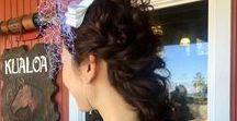 pony tail , braid/ポニーテール・編みおろし / TV 雑誌で 活躍するトップアーティストがハワイでの結婚式のヘアメイクをお手伝いいたします!
