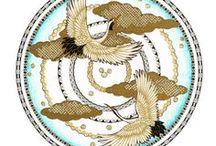 """""""MANDALA'S MET STOFJES"""" / mandala's uit het boek van Beika Kruid """"Mandala's met Stofjes"""""""