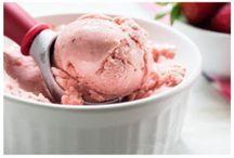 Frozen yoghurt/glass