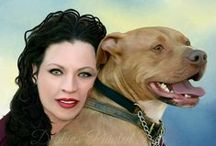 Pet and Human Portraits / Do you have a photo with you and your pet? Get a portrait today so you will have memories that last forever! Price starts at $100. Email me: PetOrganix@aol.com Pet Memorials-See more on website: http://www.holisticandorganixpetshoppe.com/painted-pet-portraits.html
