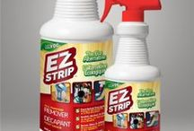 EZ Strip All Purpose Remover / Our advanced patented non-toxic formula can be used effectively on most surfaces to remove all types of paint spill & overspray, graffiti, markers & ink, gum, adhesive & glue residues, tree pitch, bugs & tar, wax, and just tough sticky stuff! Gets the dirty jobs done.  / by EZ Strip