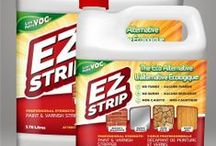 EZ Strip Professional Strenght Paint and Varnish Stripper / Our easy to use, convenient no drip gel targets the molecular bond between the coating and the surface, allowing it to effectively remove most coatings from masonry, metal, stone, wood, and more.  / by EZ Strip