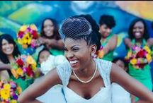 Natural Hair Styles For Brides / Wedding Day Hairstyles For Brides With Curly Hair. See More Real #NaturalHairBride Weddings Via www.NaturalHairBride.com