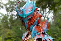 JAFantasyArt's Dragon Armor / This is the armor I have slaved over for the last year or so, piece by piece.  It's all hand tooled leather made and designed by me.  It was inspired by monster hunter and became a steampunk dragon hunter.  The armor was made to look like a copper dragon hide.