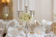 Kerzenständer mieten / Hochwertige Kerzenständer und Kerzenleuchter für Ihre Hochzeit mieten. Wedding & Events GmbH vermietet Hochzeitsdekoration und kreative Tischdekoration für den schönsten Tag im Leben. In unserem Kerzenständer-Sortiment haben wir 5-armige Kerzenleuchter in Silber, Weiss und Gold, sowie auch sehr schöne einzelne Kerzenhalter in verschiedenen Größen für Spitzkerzen und Stumpfkerzen und passende Glasaufsätze. Alles bei Wedding & Events GmbH Schweiz. www.wedding-events.ch