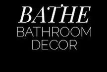 Bathrooms / Easy to clean, functional, yet with a great character and style.  Tiles, Bathroom Tiles, Bathrooms, Bathroom, Bath Tub, Sinks, His & Her Sinks, Mirrors, Clawfoot Bath Tub, Bathtub, Clawfoot Bathtub, Bohemian, Home, House, Wall Colour, Wall Paint, Interior Design, Home Design