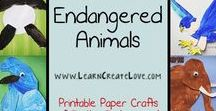 Endangered Animals / Learn all about our worlds endangered animals and how you can help with conservation efforts.  You'd be surprised how much you can do to help in everyday life!