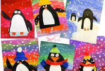 Winter in the Classroom / Penguins and Snowmen abound on this board!   I have collected winter themed art activities and crafts as well as lessons that integrate winter season.  If it is wintery then you may find it here!