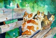 Cat Art / by Liz Miller - Artful Endeavors