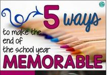 End of the School Year / End the school year on a high note!  This collection of ideas, projects and ways to organize for the end of the school year will help you make it an engaging and fun time.  There are lots of tips to help you save your own sanity in the last few days!