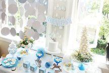 Babyshower / Babyshower, blue, white, decorbyyael