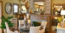 """2015 Fall Ideas House / """"Rustic Meets Refined"""" Natural elements pair with tones of ivory and gilded accents to create a sophisticated scene to enjoy a bountiful harvest season."""
