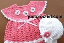 Free Baby Crochet Patterns / Visit my websites: www.justcrochet.com or www.patternsforcrochet.co.uk for more FREE baby crochet patterns. All crochet patterns are written in UK and USA formats / by Patternsforcrochet