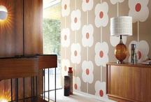 Retro Wallpaper / Retro wallpaper is making a bold statement in many homes.  Available from www.wallpapershop.com.au (Murrays Interiors).