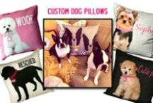 Destination Pets-Custom pet pillows / Inspired by her two-year-old labradoodle, Charlie, and her adopted Manx cat, Scout, artist Lori Blum, of Uptown Artworks, decided to launch a line of handmade, eco-friendly, personalized, pet pillows.