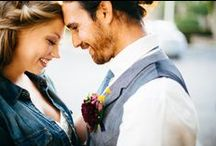 The B Project by Tiffany Jones Photography at CL Space / Wedding inspiration | Chambray | Bride | Groom | Hair | Rustic | Ybor City | Details | Blue & White Ceremony | Wedding Photography - Photographer: Tiffani Jones | Venue: CL Space