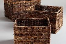 BASKETS- BINS- BOXES- CONTAINERS