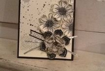 Stampinup / #Stampinup #punchitup Creative challenge using the pansy flower and funflower punch