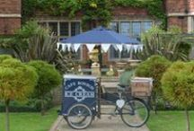 Our Ice Cream Tricycles! / Based in Somerset, our happy Tricycles attend Weddings, Parties and Corporate Events all across the South of England, South West of England, South Wales and the Midlands .... although we have been known to go further afar!   Some piccies of our Tricycles at work!