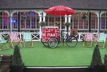 Our Pimms Tricycle! / Our wonderful Pimms Tricycle comes with a fully branded Pimm's service including Parasol, Jugs, Ice Buckets, Trays, Stirrers, Bunting, Gazebo and .......... lots and lots of refreshing, ice cold Pimm's No. 1!