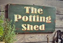 POTTING SHED & BENCH / Love These / by MaryAnne Rether