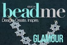 Bead Me Issue 24: Glamour / Sparkle and shine with the glamorous jewelry of Bead Me 24! Download the issue today.  www.beadmemagazine.com / by Bead Me Magazine
