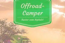 Offroad Camper / Mit dem Wohnmobil abseits der Straßen in einsamer Landschaft stehen zu können ist ein Traum! Hier gibts Inspiration in Form von Campern und Offroad-Touren!