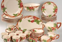 Dishes & More Dishes.... / This is for my friend, Diane, who is forever admiring and buying dishes.  She loves many different patterns - old and new and especially the presentations.  I also love shopping with Diane!!! / by Glenda Locke