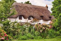 Thatched Cottages / There is something very quaint about a thatched cottage.  Here are a few that I like.... / by Glenda Locke